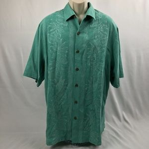 New Tommy Bahama Camp Shirt Pacific Floral Tobago